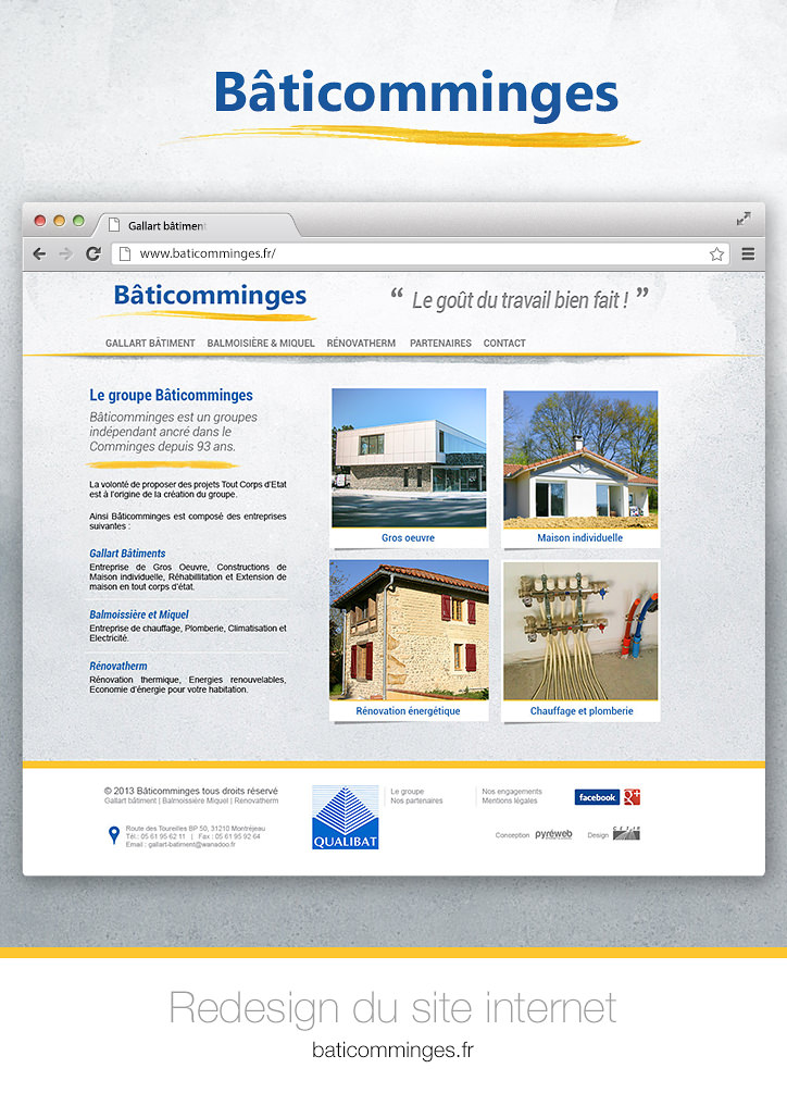 baticomminges site Internet re design